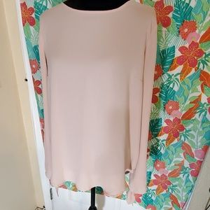 Light pink tied sleeve blouse